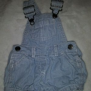 Baby blue overalls